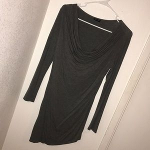 Asymmetrical body forming dress